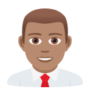 Download Man Office Worker Medium Skin Tone Emoji By Joypixels