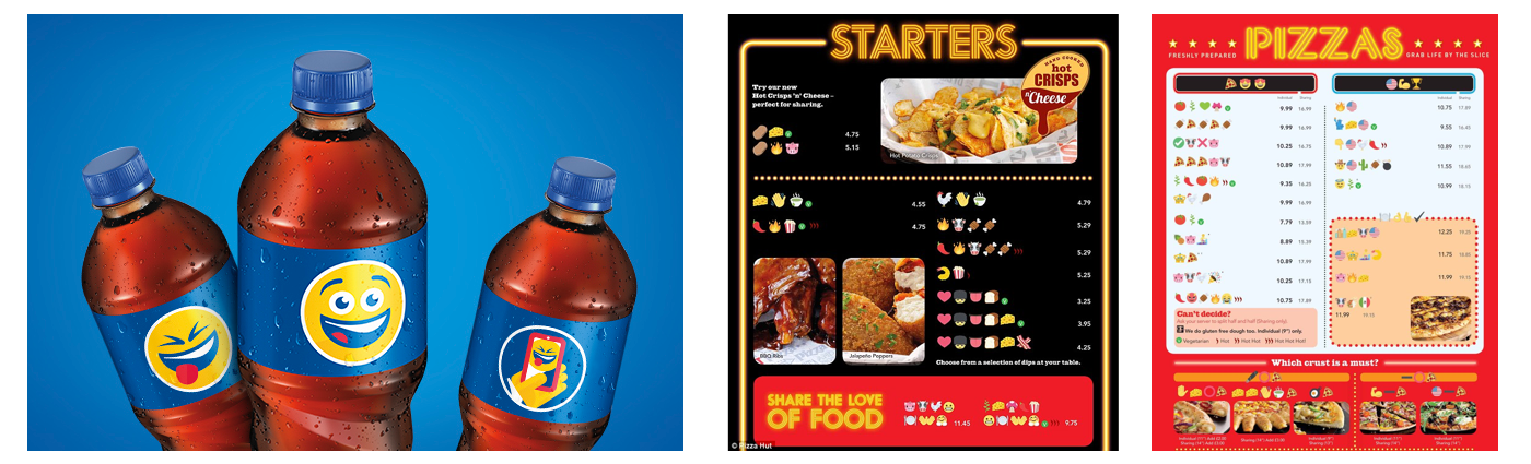 Pepsi Emoji Bottles U0026 Pizza Hut Emoji Menus Are A Few Examples Of Just How  Popular Emojis Are